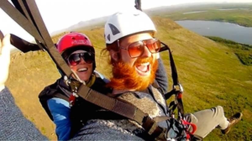 Paragliding Tandem Flight Reykjavik